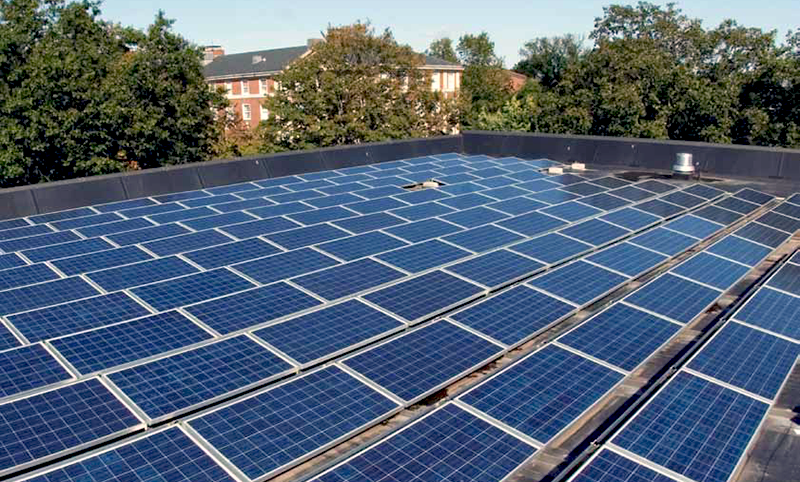 Adelphi University's Solar Panels